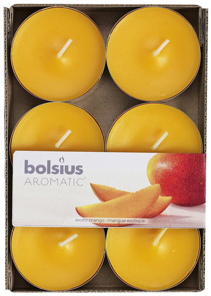 Bolsius Aromatic Exotic mango Maxi-Light (Set of 6)