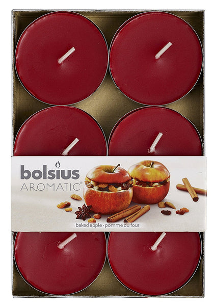 Bolsius Aromatic Baked Apple Maxi-Light (Set of 6)