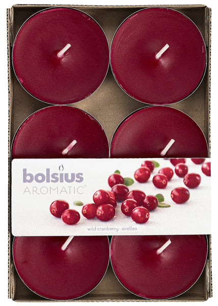 Bolsius Aromatic Wild Cranberry Maxi-Light (Set of 6)