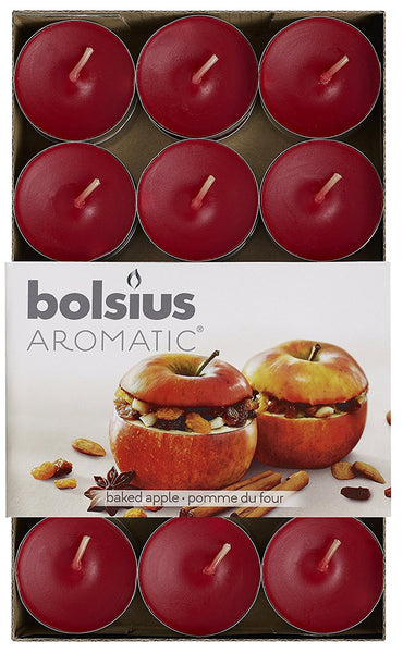 Bolsius Aromatic Baked Apple Tealights (Set of 30)