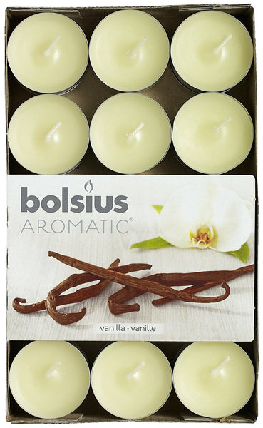 Bolsius Aromatic Vanilla Tealights (Set of 30)