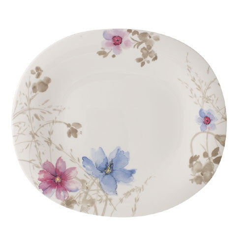 Villeroy and Boch Mariefleur Gris Oval Flat Plate 29x25cm