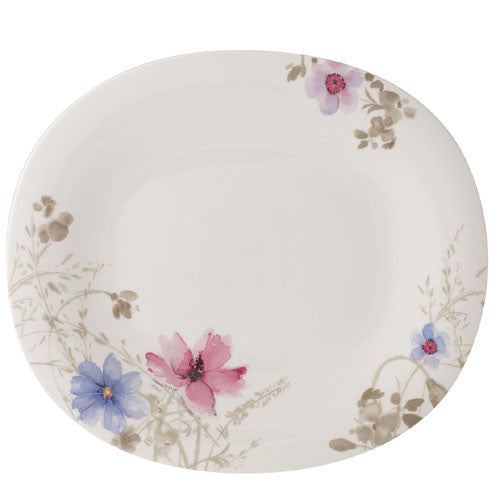 Villeroy and Boch Mariefleur Gris Oval Gourmet Plate 32x28cm