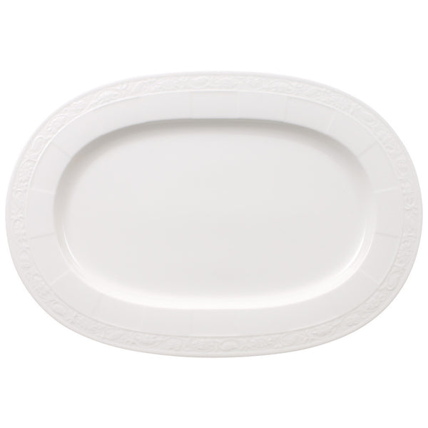 Villeroy and Boch White Pearl Oval Platter 41cm  [C]