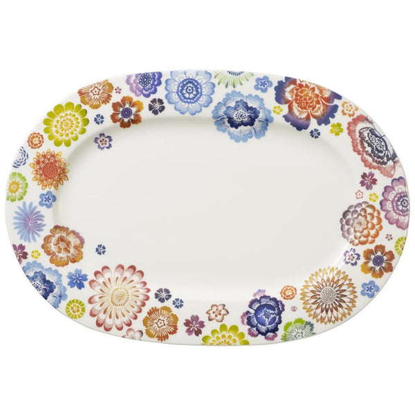 Villeroy and Boch Anmut Bloom Floral Platter 34cm