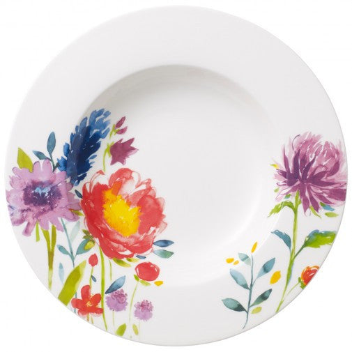 Villeroy and Boch Anmut Flowers Deep Plate 24cm