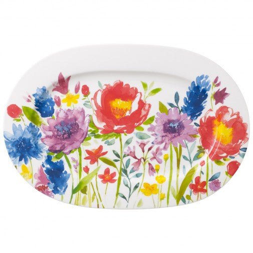 Villeroy and Boch Anmut Flowers Oval Platters 34cm