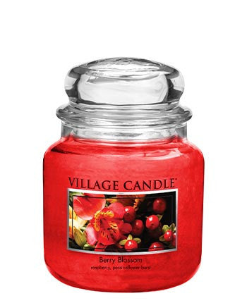 Village Candles Berry Blossom Medium Candle Jar