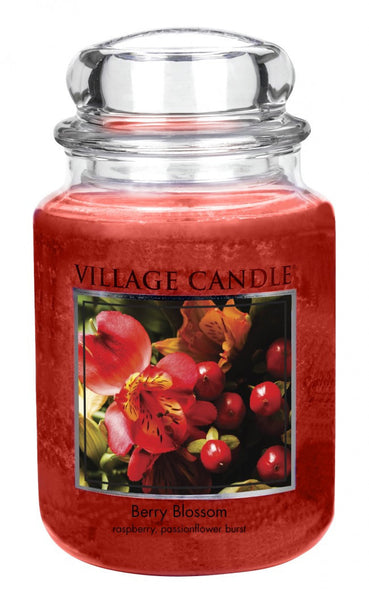 Village Candles Berry Blossom Large Candle Jar
