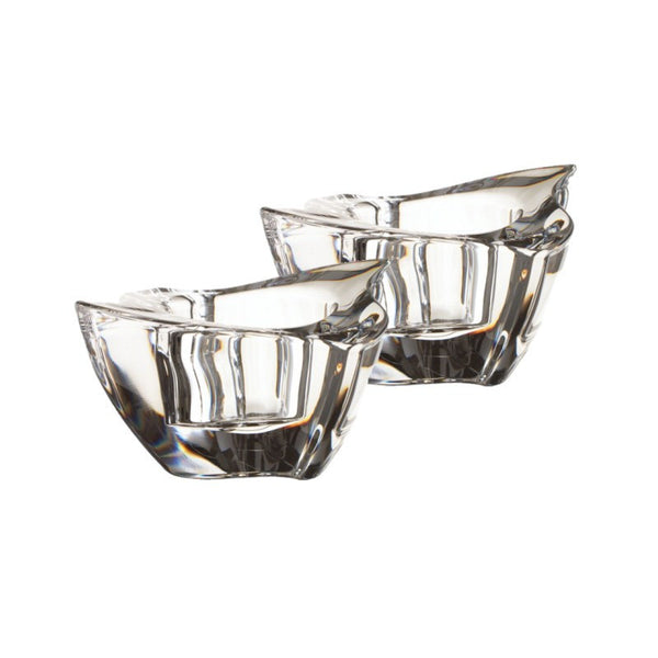 Villeroy and Boch NewWave Glass Tealight Holders 5cm (Pair)