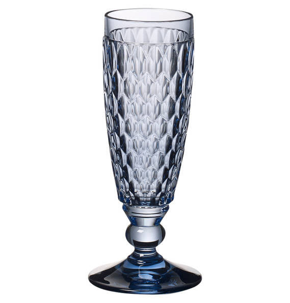 Villeroy and Boch Boston Blue Champagne Flute 16.3cm
