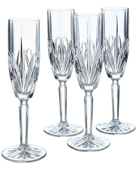 Waterford Crystal by Marquis Brookside Champagne Flutes (Set of 4)