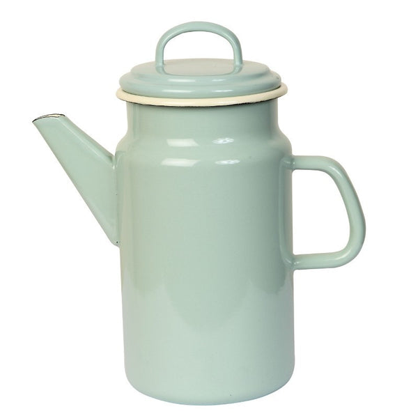 Dexam Enamelware Sage Coffee Pot 2.00L