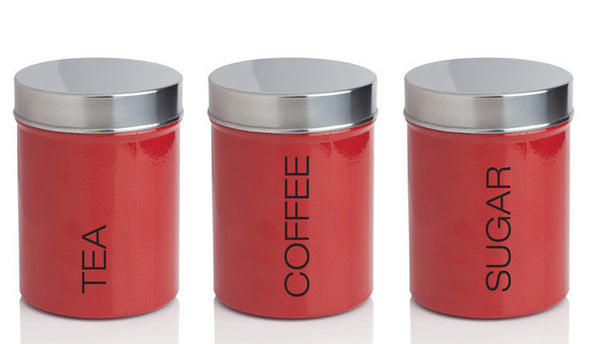 Sabichi Kitchen Red Canister Set