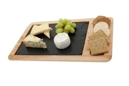 Just Slate Rectangular Wooden Serving Platters 40cm by 25cm