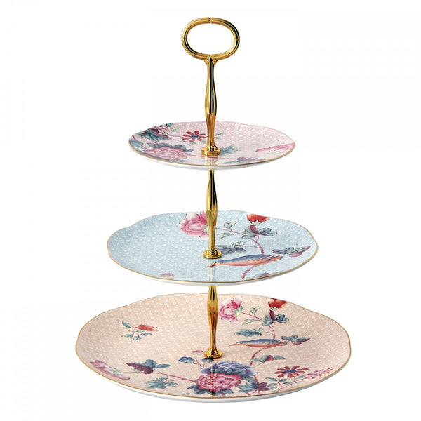 Wedgwood Cuckoo Pink 3 Tier Cake Stand