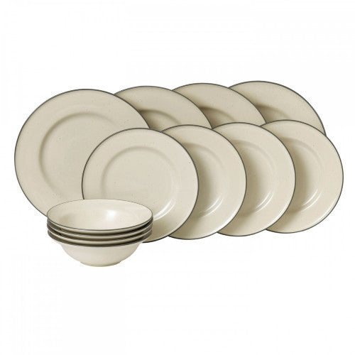 Royal Doulton Gordon Ramsay Union Street Cream 12 Piece Set