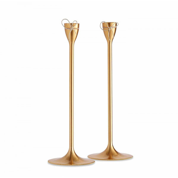 Vera Wang Love Knots Gold Candlestick [C]