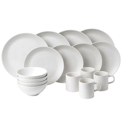 Royal Doulton Hemingway Design White 16 Piece Boxed Set