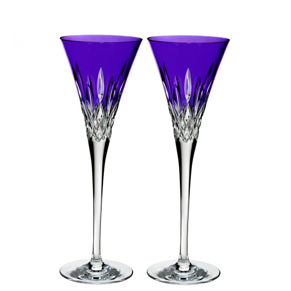 Waterford Crystal Lismore Pops Purple Toasting Flute (Pair)