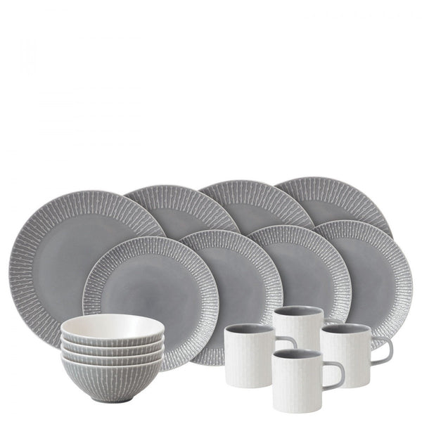Royal Doulton Hemingway Design Grey 16 Piece Boxed Set