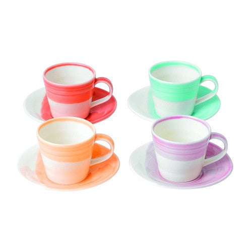 Royal Doulton 1815 Tapas Brights Espresso Cup and Saucer (Set of 4)