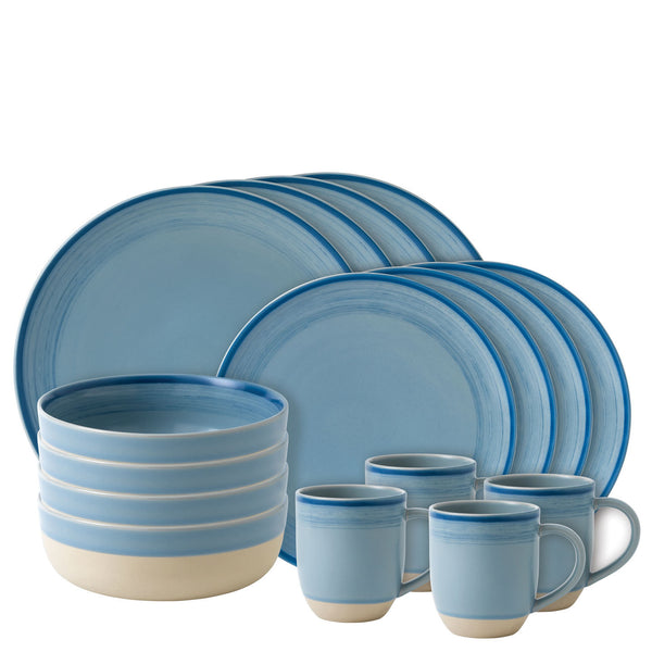 Royal Doulton Ellen Degeneres Brushed Glaze Polar Blue 16 Piece Set