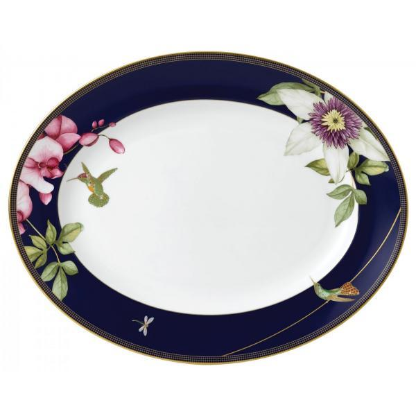 Wedgwood Hummingbird Collection Oval Platter 35cm