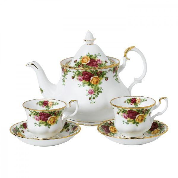 Royal Albert Old Country Roses Tea for Two 5 Piece Set