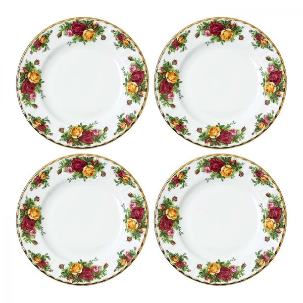 Royal Albert Old Country Roses Plate 20Cm (Set Of 4)