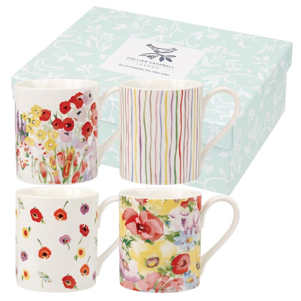 Churchill China Collier Campbell Painted Garden Mug 0.25L (Set Of 4)
