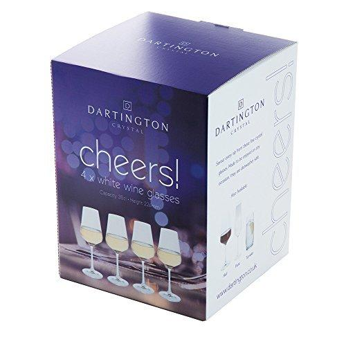 Dartington Crystal Cheers White Wine Glass (4 Pack)