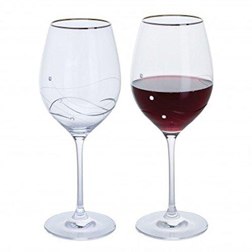Dartington Crystal Glitz Silver Goblet (Pair)