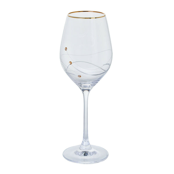 Dartington Crystal Glitz Gold Wine Glass (Single)