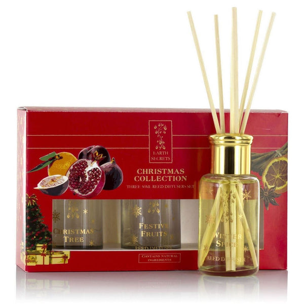 Ashleigh and Burwood Christmas Scented Trio Earth Reed Diffuser Gift 50ml