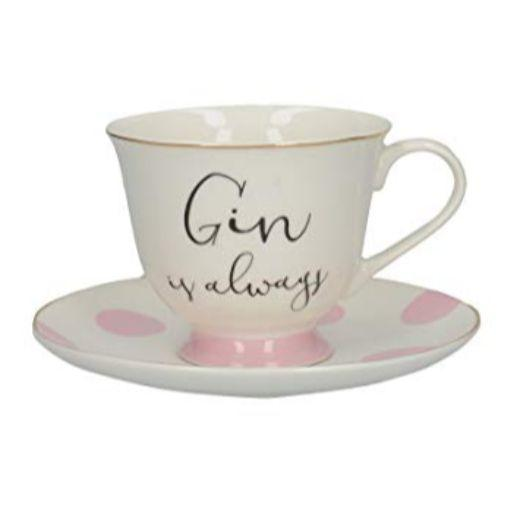 Ava and I Gin and Tonic Cup and Saucer