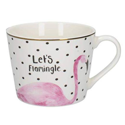 Ava and I Flamingo Flamingo Squat Conical Mug