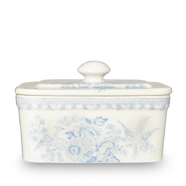 Burleigh Blue Asiatic Pheasant Butter Dish 400g