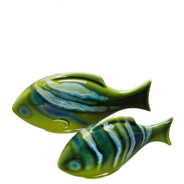 Poole Pottery Maya Pair Of Poole Fish 8 by 16cm (Gift Boxed)