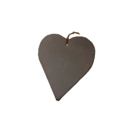 Just Slate Memo Board Heart Shaped 26cm by 25cm