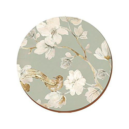 Creative Tops Duck Egg Floral Bird Round Placemats 29cm (Set of 4)