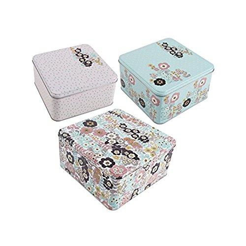 Katie Alice Pretty Retro Square Set of 3 Cake Tin