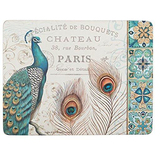 Creative Tops Peacock Placemats 30cm by 22.8cm (Set of 6)