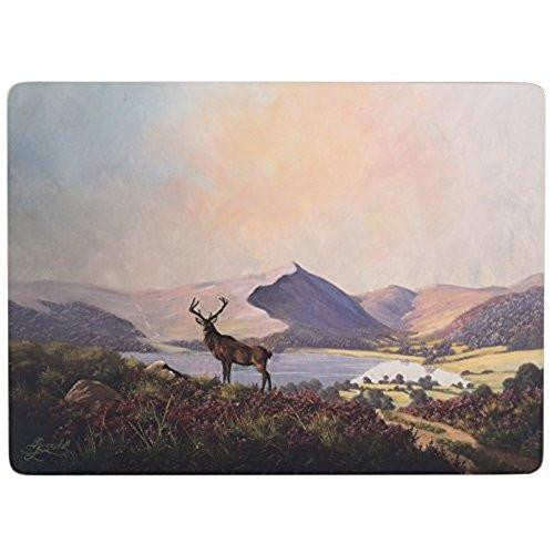 Creative Tops Highland Stag Large Placemats 40cm by 29cm (Set of 4)