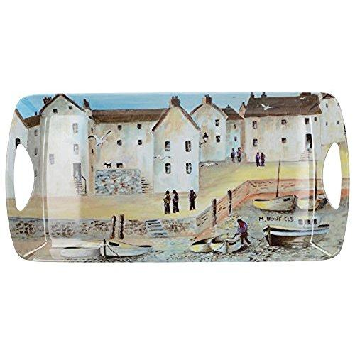Cornish Harbour Melamine Small Handled Tray