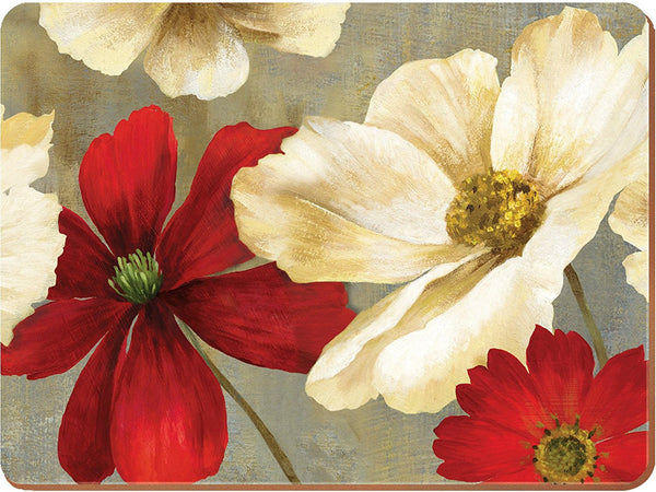 Creative Tops Flower Study Premium Large Placemats 40cm by 29cm (Set of 4)