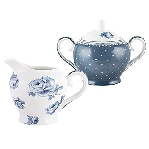 Katie Alice Vintage Indigo Sugar and Creamer Set
