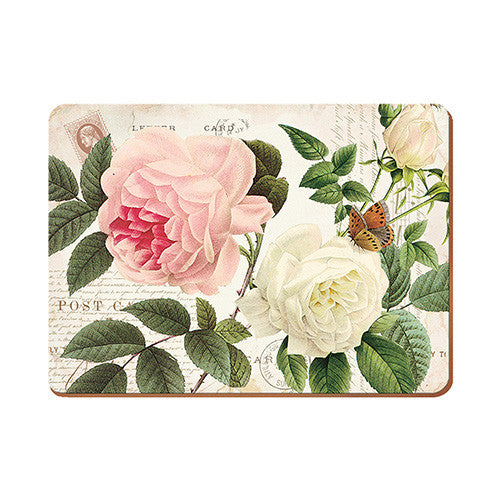 Creative Tops Rose Garden Premium Placemats 30cm by 22.8cm (Set of 6)