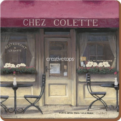 Creative Tops Chez Colette Premium Coasters 10.5cm by 10.5cm (Set of 6)
