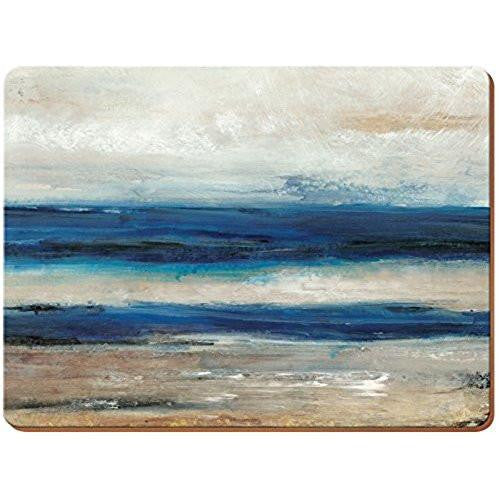 Creative Tops Abstrac Ocean View Placemats 30cm by 22.8cm (Set of 6)